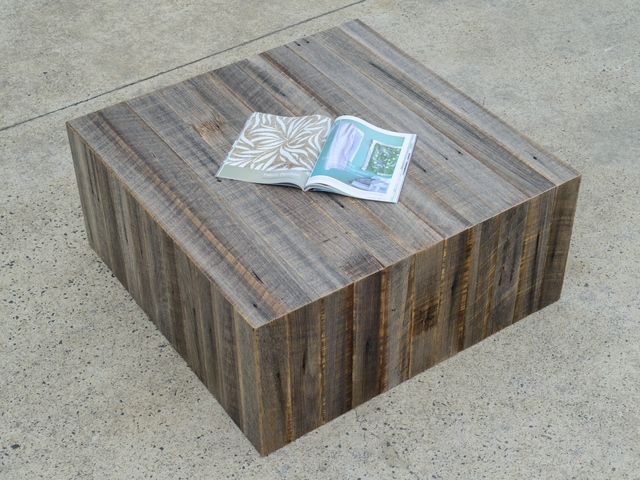 Weathered Cube Coffee Table by Zac Pearton - Coffee Table, Recycled, Custom