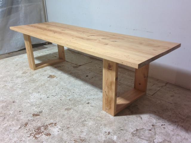 Recycled oregon dining table by tim denshire key handkrafted for Reclaimed wood oregon