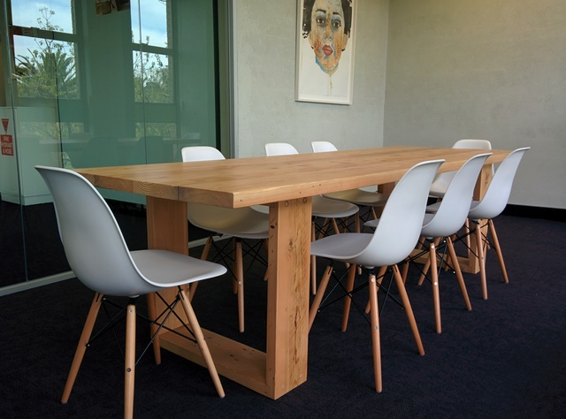 Boardroom table/ meeting table by Tim Denshire-Key - Boardroom, Office, Commercial, Flat Pack, Recycled Timber, Oregon, Bespoke, Meeting, Communal, Dining