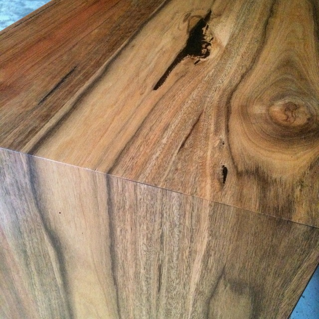 Spotted Gum Coffee Table by Tescher Forge - Coffee Table, Spotted Gum, Steel, Custom