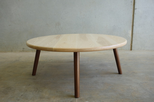 Round table discussion - coffee table by CHRISTOPHER BLANK - Coffee Table, Handmade, Custom, Round, Recycled Hardwood, Christopher Blank