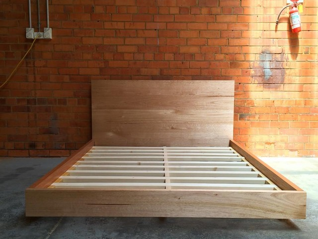 Floating Bed by Tescher Forge - Bed, Floating, Oak