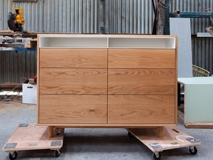 Anna dresser by Relm Furniture - Oak, Timber, Custom, Bespoke, Steel, Scandi, Blobde
