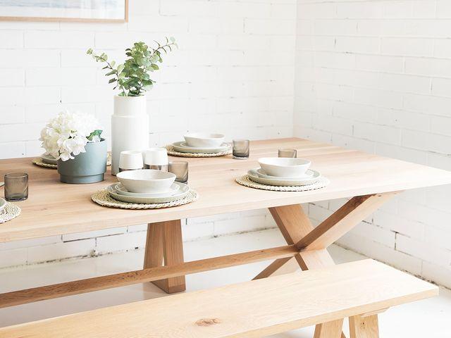 Mooloolaba Dining Table  by RAW Sunshine Coast  - Table, Bench