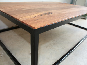 The James Coffee Table by Woodspoke - Coffee Table, Metal, Recycled, Messmate, Timber, Sleek
