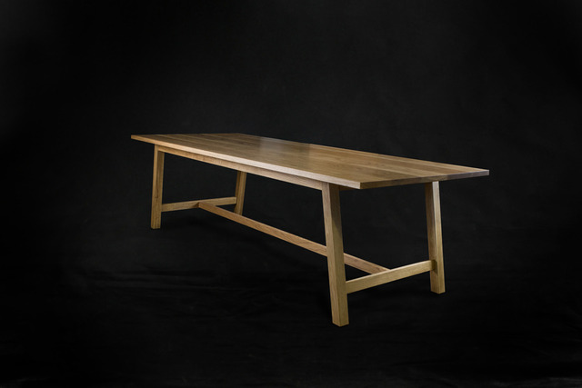 Modern Farmhouse Dining Table by makimaki Furniture Works - Dining Table, Farmhouse, Modern, Makimaki, Brisbane, Oak