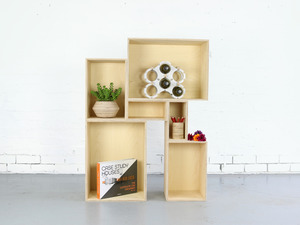 Box Shelving System by Power to Make - Shelving, Timber, Square, Rectangular, Modular, Shelf