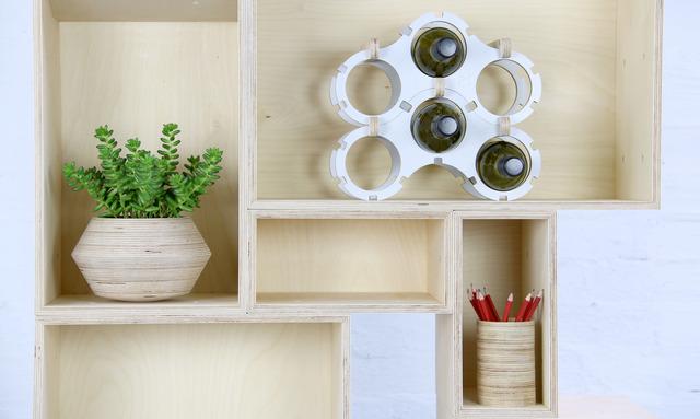 Box Shelving System by Power to Make - Shelving, Timber, Square, Rectangular, Modular, Shelf
