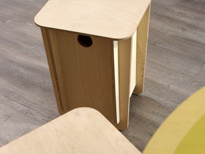 Click Stool by Power to Make - Stool, Furniture, Timber, Flatpack