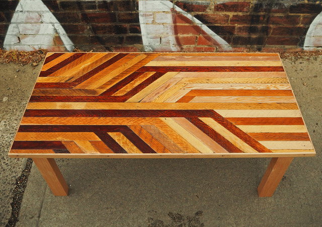 Lath Coffee Table by Flitch & Rasp - Recycled Timber, Lath