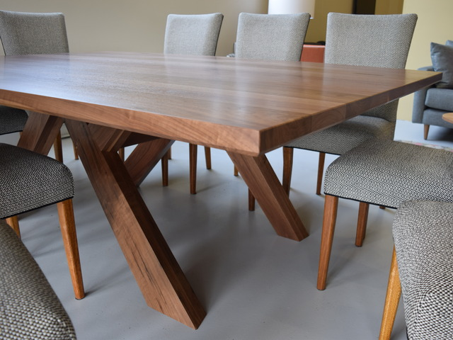 Macklin Table in Walnut by Buywood Furniture - Dining Table, Formal Table, Table, Walnut