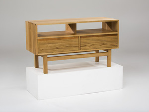 The Oak-B Console by GLENCROSS FURNITURE - Cabinet, Custom Made, American Oak, Blackwood, Entertainment, Apartment, Credenza, Sideboard, Console, Melbourne