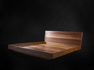 Recycled Timber Bed by makimaki Furniture Works - Reclaimed, Hardwood, Bed, Recycled