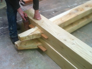 Architectural joinery by Tim Kennedy - Architectural Joinery, Post & Beam, Hand Made Trusses