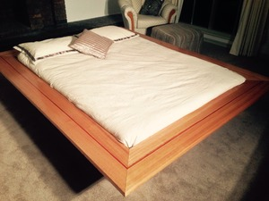 Recessed Mitre Bed by TimberYard Co. - Hardwood, Handmade, Inlay, Mitre, Innovation, Unique, Recessed
