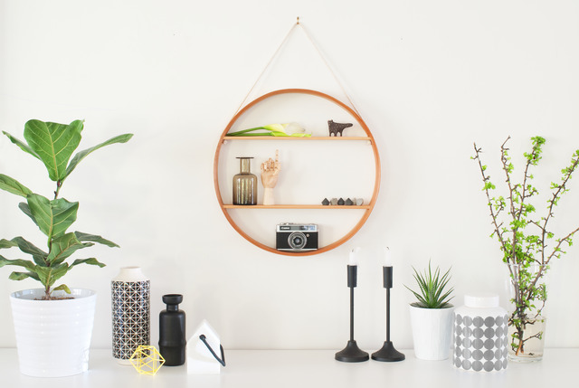 CIRCULAR SHADOW BOX - ROUND SHELF by Senkki Furniture - Round Shelf, Round  Shadow Box