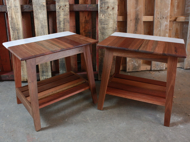 Spotted Gum Side Tables by Ewan  Wotherspoon - Side Tables, Bed Side Table, Coffee Tables, Stools, Recycled Wood