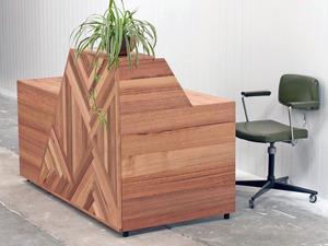Reception Desk  by Leah Hudson-Smith - Reception, Desk, Retail, Design, Marquetry, Furniture, Custom