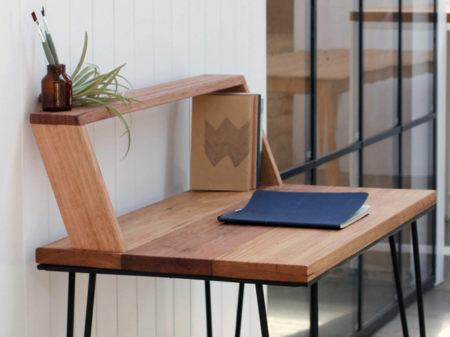 Writing Desk by Leah Hudson-Smith - Table, Desk, Hairpin, Timber, Messmate, Furniture, Custom, Oak, Study
