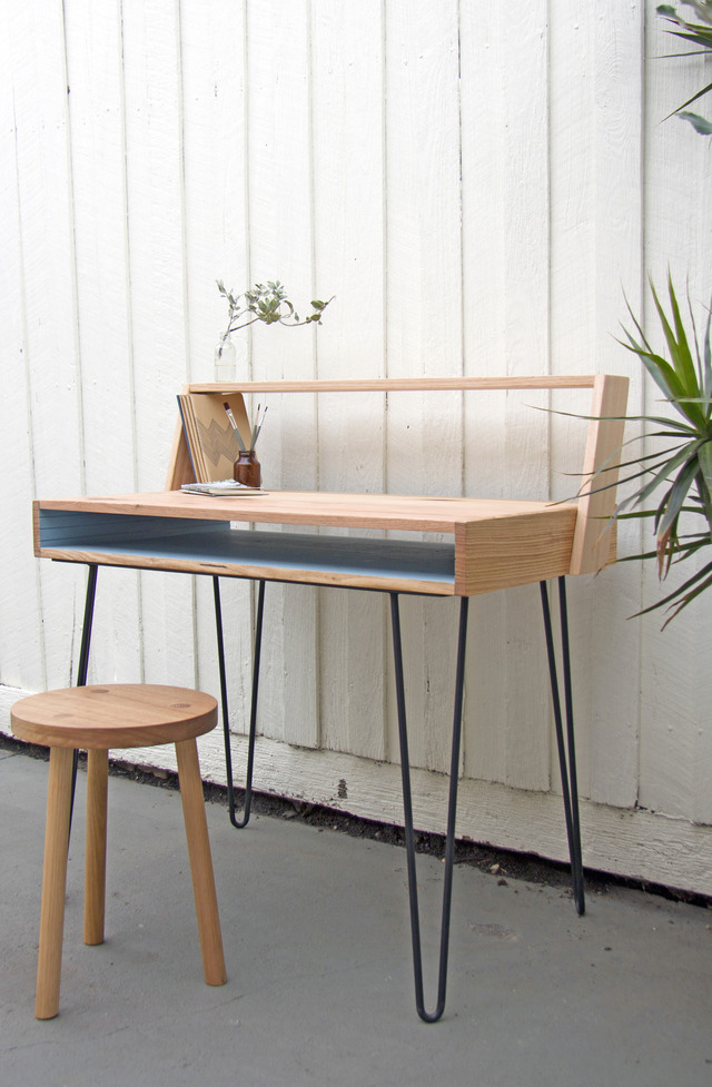 Writing Desk by Leah Hudson-Smith - Desk, Study, Table, Hairpin, Furniture, Custom