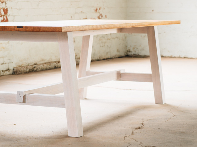 Arrow Table by Hugh Makin - Oak, Dining Table, Recycled