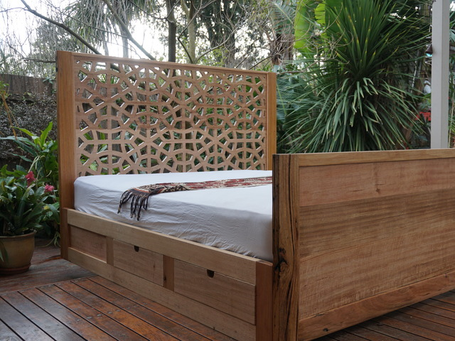 Moorish Bed with Drawers by Peter Wenborn - Bed, Middle Eastern, Storage, Sustainable Timber