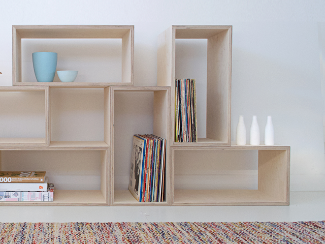 Shelving by Raw Edge Furniture - Ply, Plywood, Birch Ply, Ply Shelving, Ply Modular Shelving, Ply Boxes, Ply Furniture, Shelving, Modular
