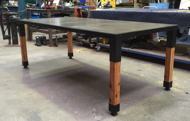 Indo/Outdo Table by The Savage & Scott - Concrete, Steel, Table