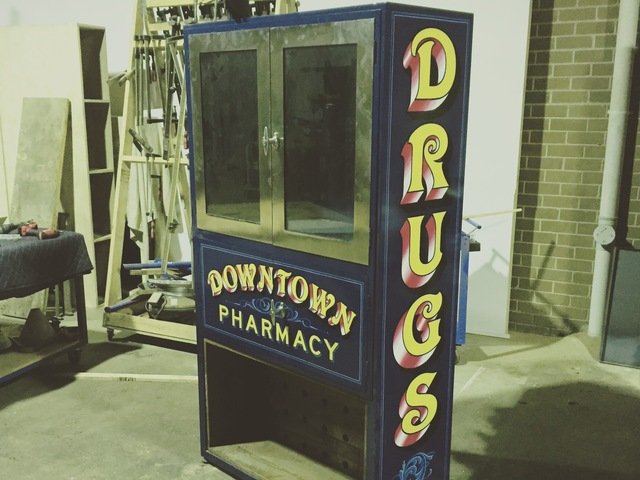 Drug Store Cabinet by The Savage & Scott - Liquor Cabinet, Cabinet, Cupboard, Salvaged, Found