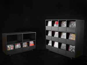 Hello Darkness Record Cabinets by makimaki Furniture Works - Cabinet, Storage, Record, Drawers, Black