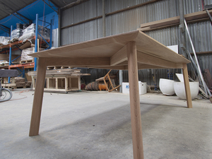 Sam Dining Table by Relm Furniture - Dining Table, Oak, Custom, Dovetail