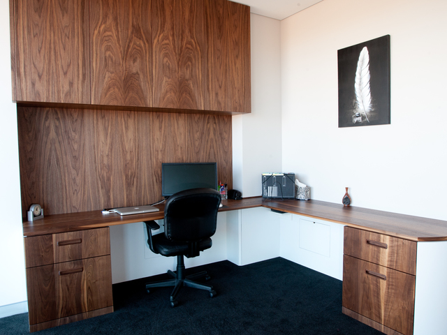 Gipps St Home Office by Aidan Morris - Bespoke, Office, Joinery, Built-In, Timber