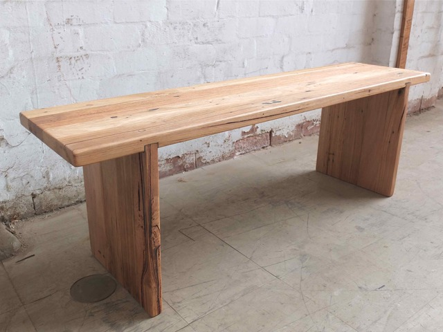 Recycled Hardwood Bench Seat by Tim Denshire-Key - Bench Seat, Seating, Hardwood, Recycled Timber, Cafe, Restaurant, Dining