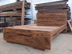 Hardwood bed  by Tim Denshire-Key - Bed, Recycled Timber, Hardwood, Bed Frame, Melbourne, Bedroom