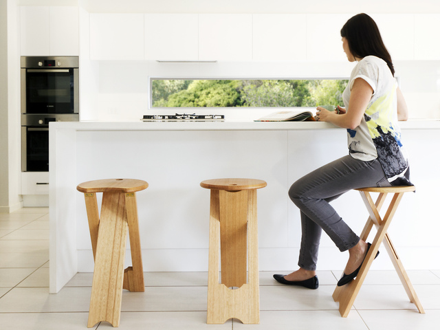 Lob Up by Timber Dimensions - Stool, Folding Stool, Tallon Stool, Reid Stool, Modern Design, Folding Table, Apartment Living, Small Table, Side Table