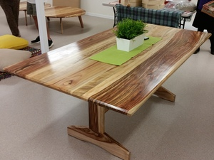 Trestle Style Dining Table by Rick Fabri - Dining Table