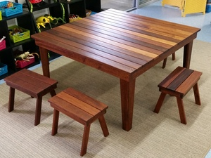 Outdoor Timber Table Setting by Rick Fabri - Outdoor Furniture
