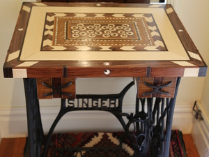 singer sawing machine coffee table by Michael Zolotarev - Coffee Table, Singer Stand, Mosaic