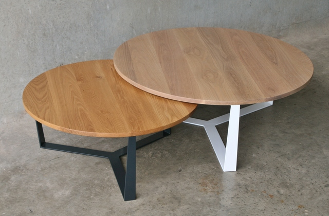 PURE coffee table on SALE by RZ interiors - Furniture, Design, American Oak, Pure, Contemporary, Noosa, Coffee Tables, Dining Tables, Round Coffee Table, Round Dining Table