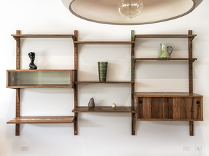 Mid Century Inspired Wall Unit by Trevor Neal - Furniture, Mid Century Furniture, Scandinavian Mid Century, Wall Unit, Interior Design, Interiors, Recycled Timber