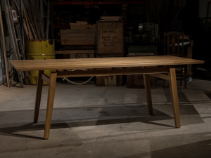 Sam's Dining Table by Trevor Neal - Furniture, Mid Century Furniture, Scandinavian Mid Century, Dining Table, Interior Design, Interiors, Recycled Timber