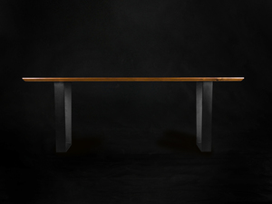 Meka Walnut Dining Table by makimaki Furniture Works - Hoop Legs, Steel, Walnut, Makimaki, Dining Table