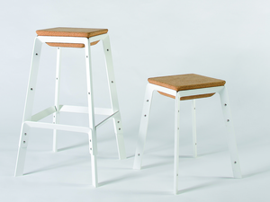 Reconnect Stool by Asher Abergel - Aluminium Stool, Bar Stool, Cork Stool, Custom Colour Stool, Dezion Studio Stool