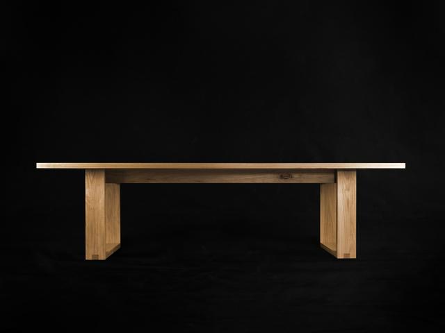 Runaway Dining Table by makimaki Furniture Works - Hoop Legs, Blackbutt, Dining Table, Brisbane, Makimaki