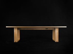 Runaway Dining Table by makimaki Furniture Works - Hoop Legs, Blackbutt, Dining Table, Brisbane, Makimaki