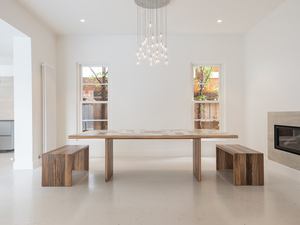 Contemporary Dining Table and Seating by Trevor Neal - Furniture, Mid Century Furniture, Scandinavian Mid Century, Dining Table, Interior Design, Interiors, Recycled Timber, Contemporary Furniture Design, Furniture Art