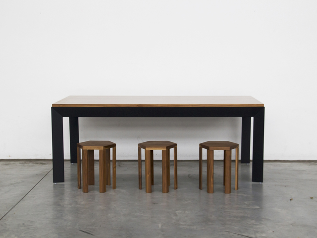 Slender Dining Table By Paradox Movement Handkrafted - Slender dining table