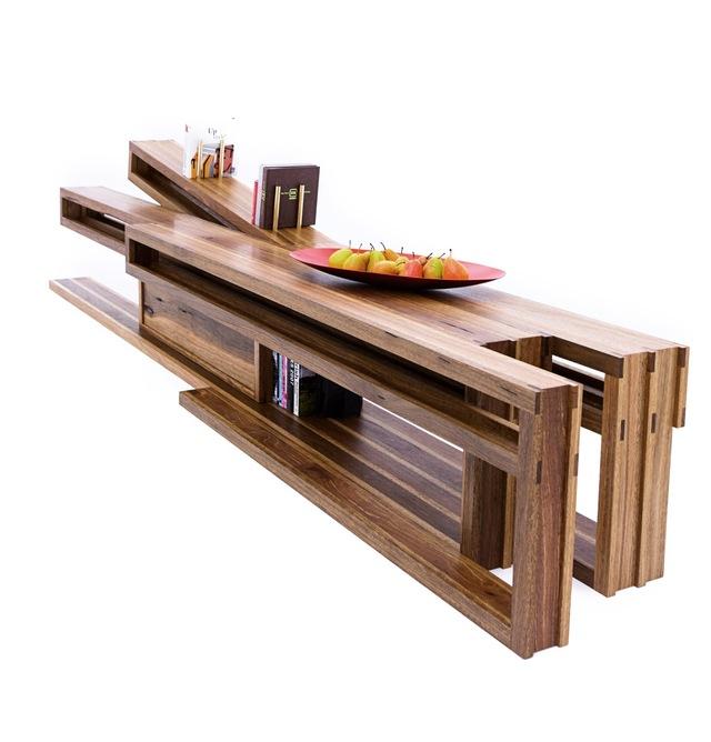 Ostberg Bench by Sawdust Bureau - Living Room, Bench, Media, Cabinet, Bookshelves