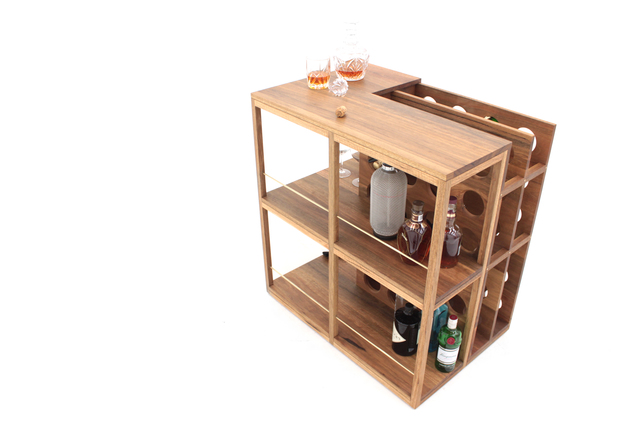 Plonk Bar by Sawdust Bureau - Bar, Drinks, Cabinet, Shelves, Living, Cocktails, Whiskey