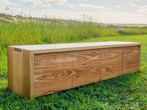 Easter Reef  TV Unit by Bombora Custom Furniture - Bespoke Tv Unit, Bespoke Tv Cabinet, Custom Tv Unit, Custom Furniture Maker, Messmate Timber, Custom Tv Cabinet, Furniture Maker Melbourne, Recycled Timber